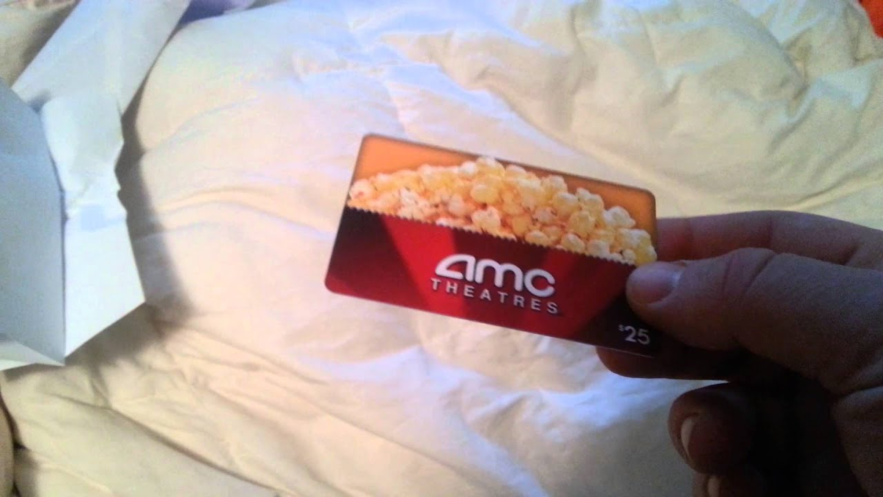 25 AMC Unboxing Gift Card Movie Theatres