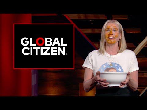 Chelsea Handler calls on Italian Prime Minister Renzi to end hunger