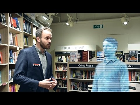 Foyles presents the Bookseller2000: the world's first holographic bookseller