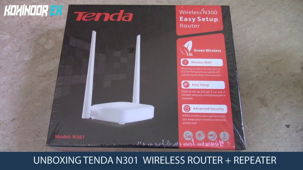 Tenda N301 Wireless Router Unboxing Use As Repeater Mode