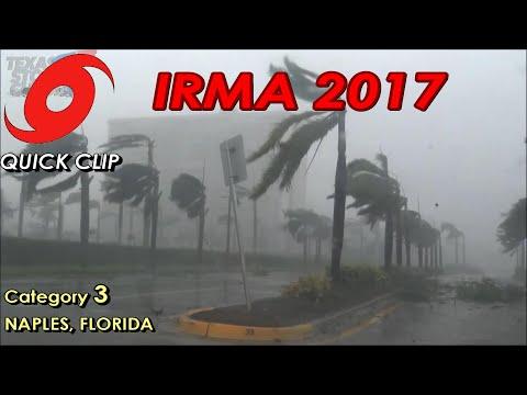 Hurricane Irma Landfall and Aftermath Footage - Naples, FL September 2017