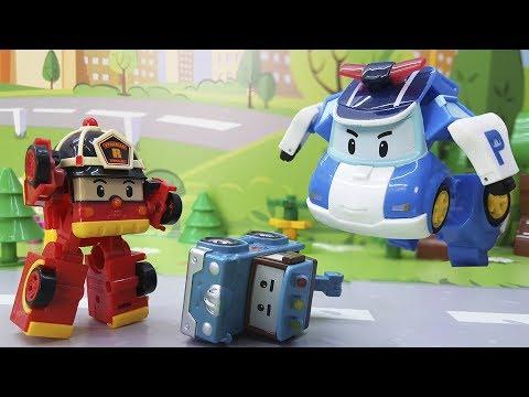 Мультики про машинки с игрушками Робокар Полли для самых маленьких детей.