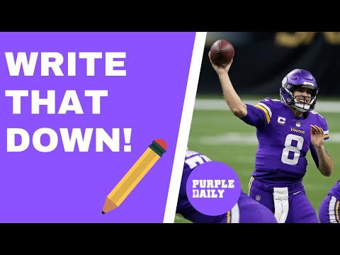'The Minnesota Vikings will trade Kirk Cousins by the 2022 NFL Draft' - WRITE THAT DOWN