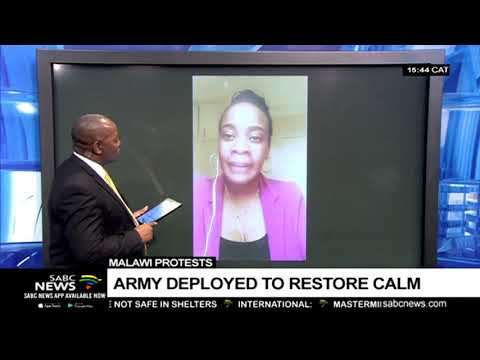 Update on Malawi protests: Gertrude Abdu-Mkandawire
