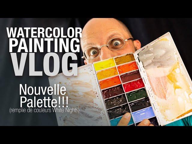 🎨 Je remplis ma nouvelle palette avec les aquarelles WHITE NIGHTS!