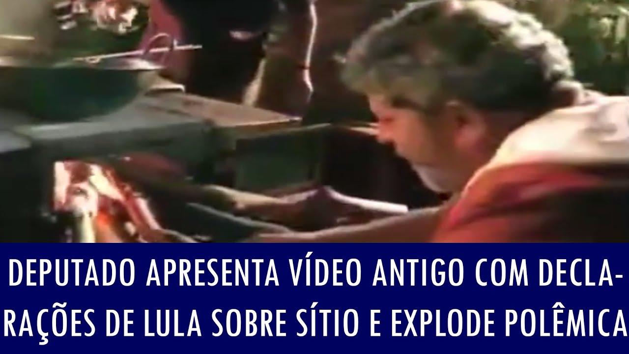 Deputado publica vídeo antigo com declarações de Lula sobre sítio, explode polêmica e ex-presiden..