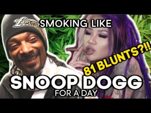 I TRIED TO SMOKE LIKE SNOOP DOGG FOR A DAY