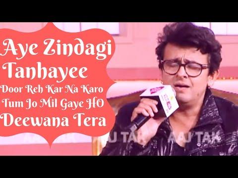 Sonu Nigam Singing His Songs & Rafi Sahab Song At AajTak Agenda In Delhi 2018