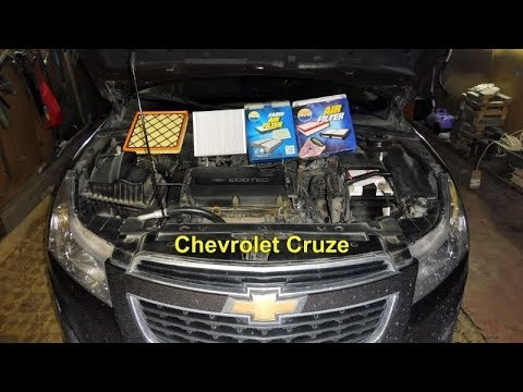 Chevrolet Cruze Замена  фильтр салона,воздушный фильтр двигателя.