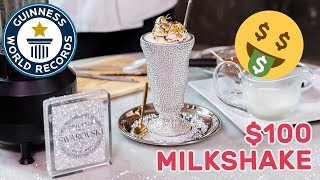 World's most expensive milkshake! - Guinness World Records