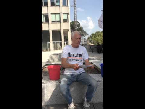 Shelby County Mayor Mark Luttrell accepts ALS Challenge