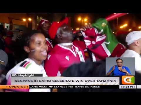 Kenyans in Cairo celebrate win over Tanzania