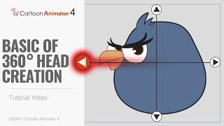 Cartoon Animator 4, 360 Head Tutorial - Basics of 360 Head Creation