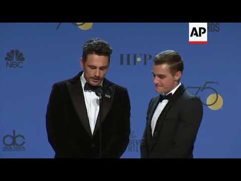 Golden Globe winners celebrate backstage