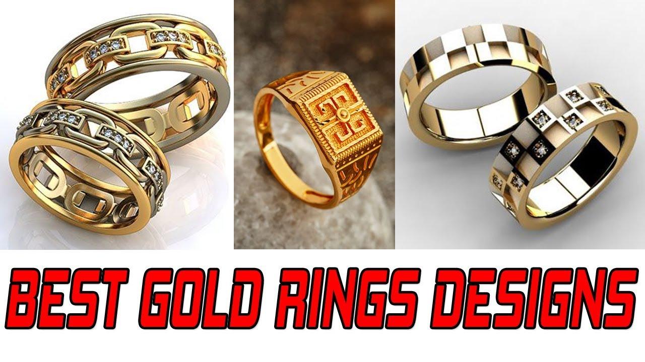 Gold Ring Design For Men Gold Wedding Rings For Men Simple