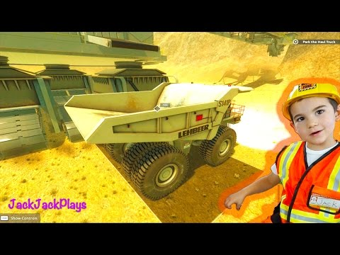 Giant Machines 2017 Truck Game Play - Bucket Wheel Excavator, Mining Dump Truck in Action