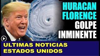 Ultimas noticias de EEUU, ¡TRUMP ASUSTADO! HURACAN FLORENCE 13/09/2018