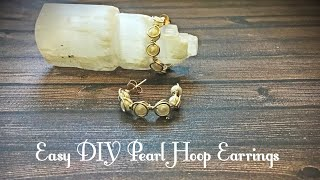 How to Make DIY Pearl Hoop Post Earrings By Denise Mathew