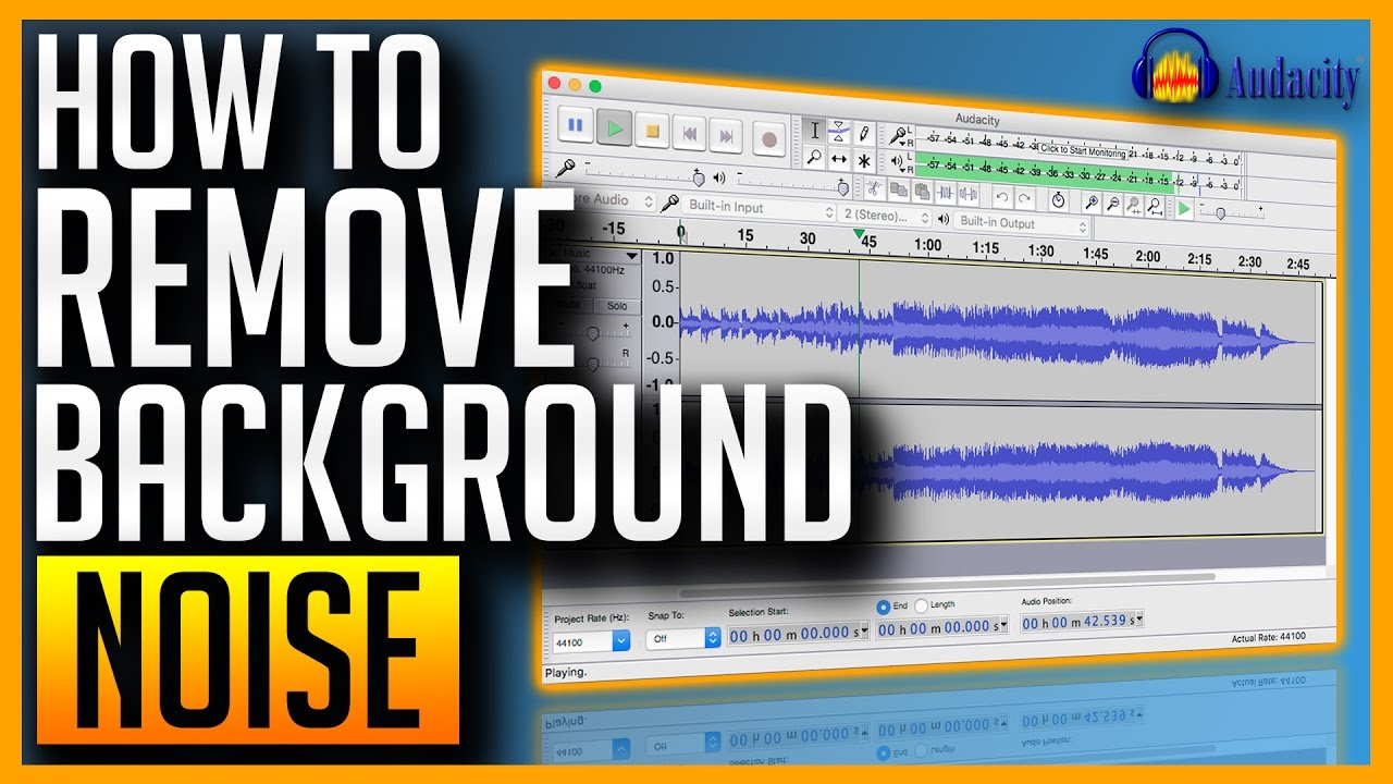 Remove Background Noise From Video Or Audio With Free Software Youtube