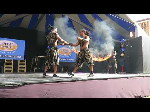 2017 Royal Adelaide Show - Burning Skipping Rope!