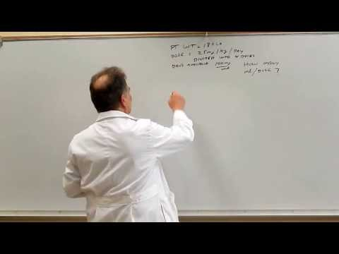 Pharmacy Calculations for Technicians - Dosage Calculations