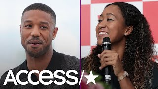 Michael B. Jordan Sends A Shirtless Selfie To Tennis Star Naomi Osaka, Invites Her To See 'Creed II'