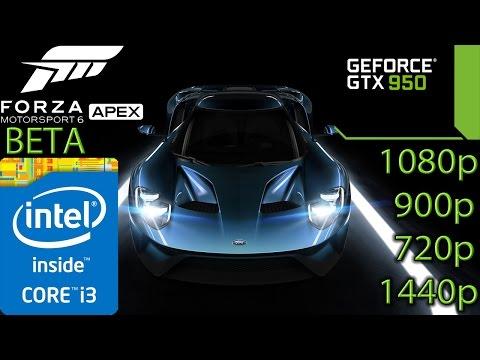 Forza Motorsport 6 Apex BETA - GTX 950 - i3 (Simulated) - 8GB RAM - 1080p - 900p - 720p - 1440p - 동영상