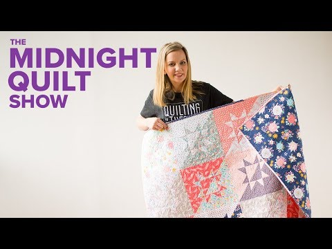 """Milky Way"" Sawtooth Star Fat Quarter Quilt 