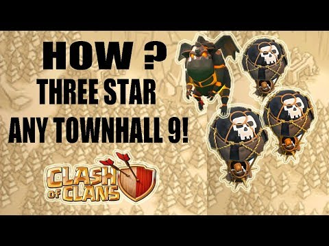 (HINDI) COC | Th9 Lavaloon Attack Guide | The BEST CoC 3 STAR Attack Strategy For Town Hall 9