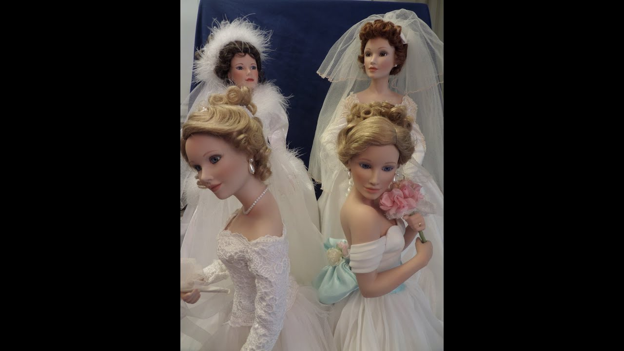 Seasonal Porcelain Bride Doll Collection