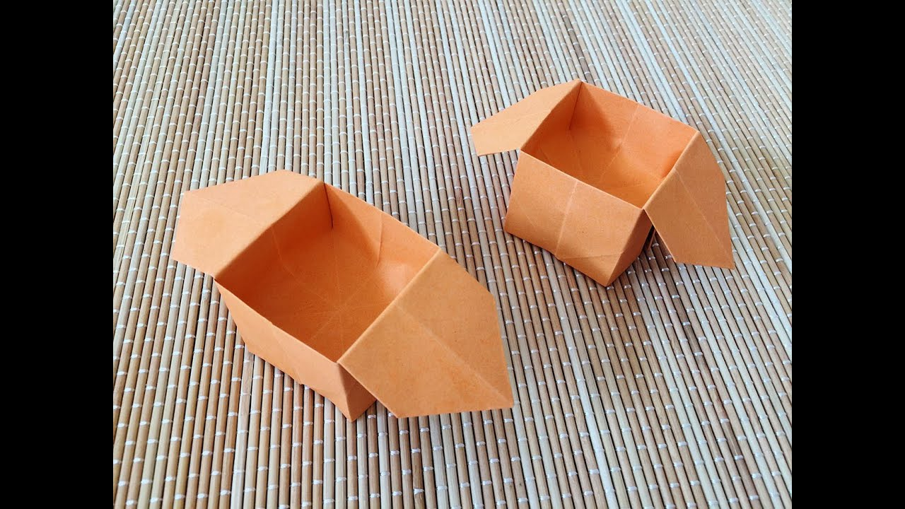 Easy Origami Box - YouTube - photo#44