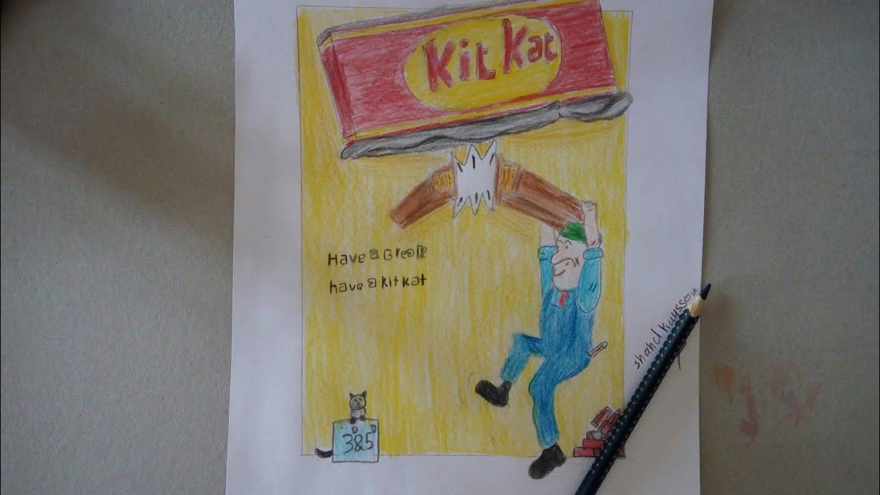 رسم اعلان كيت كات Drawing A Kit Kat Announcement Youtube