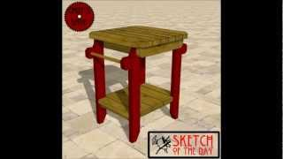 Chief's Shop Sketch Of The Day: Grill Side Table