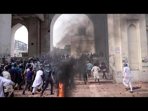 شاهد: مقتل أربعة متظاهرين خلال مسيرات للتنديد بزيارة مودي إلى بنغلادش…