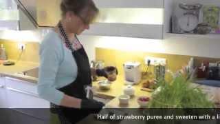 Panna Cotta Dessert With Fresh Strawberry - The Final