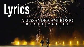 MIAMI YACINE - ALESSANDRA AMBROSIO (lyrics)