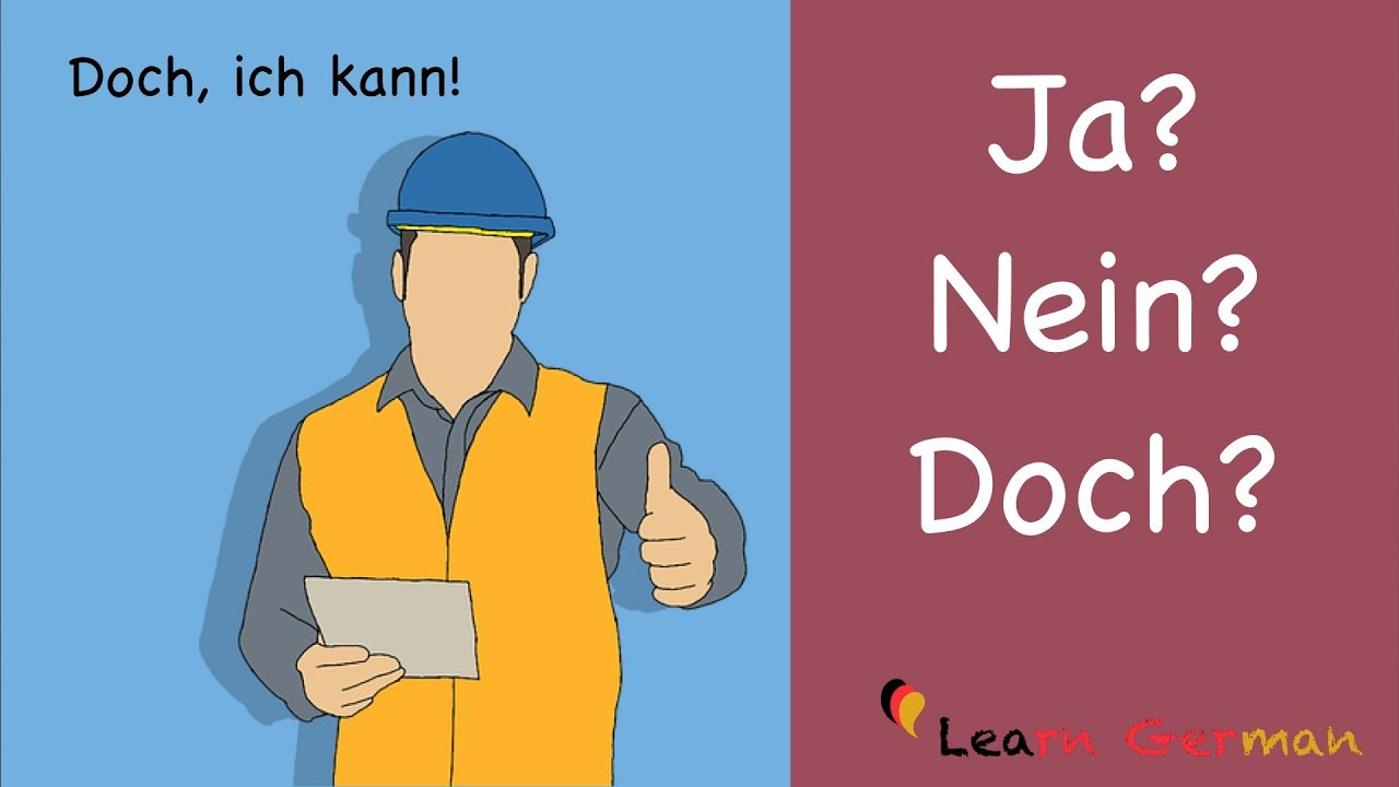 Learn German Common Mistakes In German Ja Nein Oder Doch A1