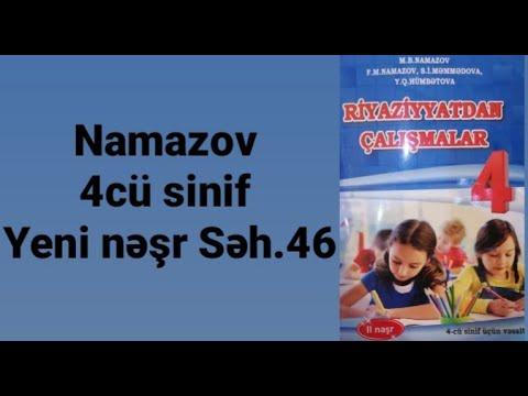 Namazov yeni nəşr  4cü sinif Səh.46(tənliklər)