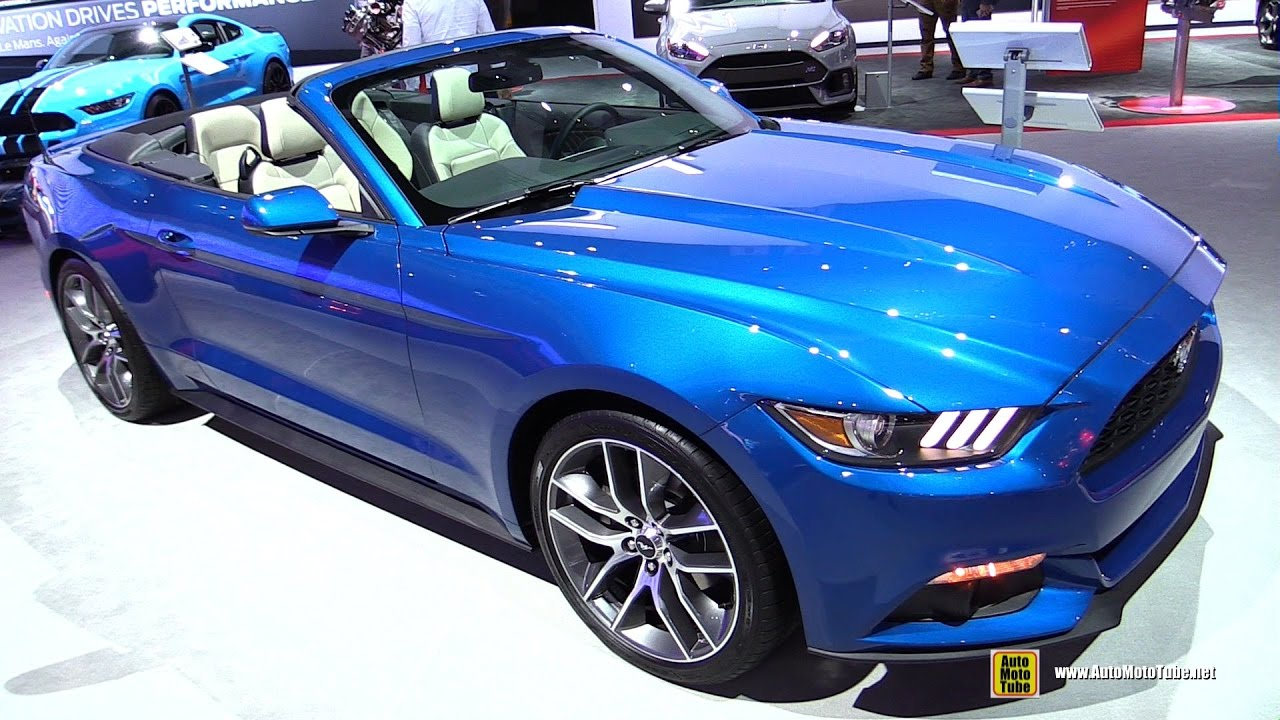 2017 Ford Mustang Convertible Premium 2 3l Exterior And Interior Walkaround 2016 La Auto