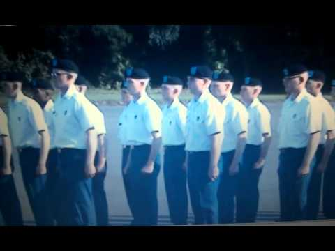 1st Batallion, 50th Infantry - 4th Platoon Marching demonstration
