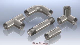 Pipe Fittings (Video Tutorial) Autodesk Inventor