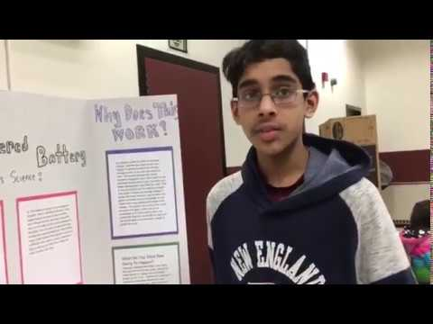 McCarthy Middle School Science Fair in Chelmsford, Mass.