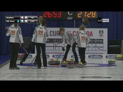 2018 U-18 Curling Championship - Quebec vs. New Brunswick (Host)