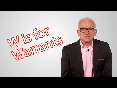 W is for Warrants - The Elite Investor Clubs A - Z of Investing