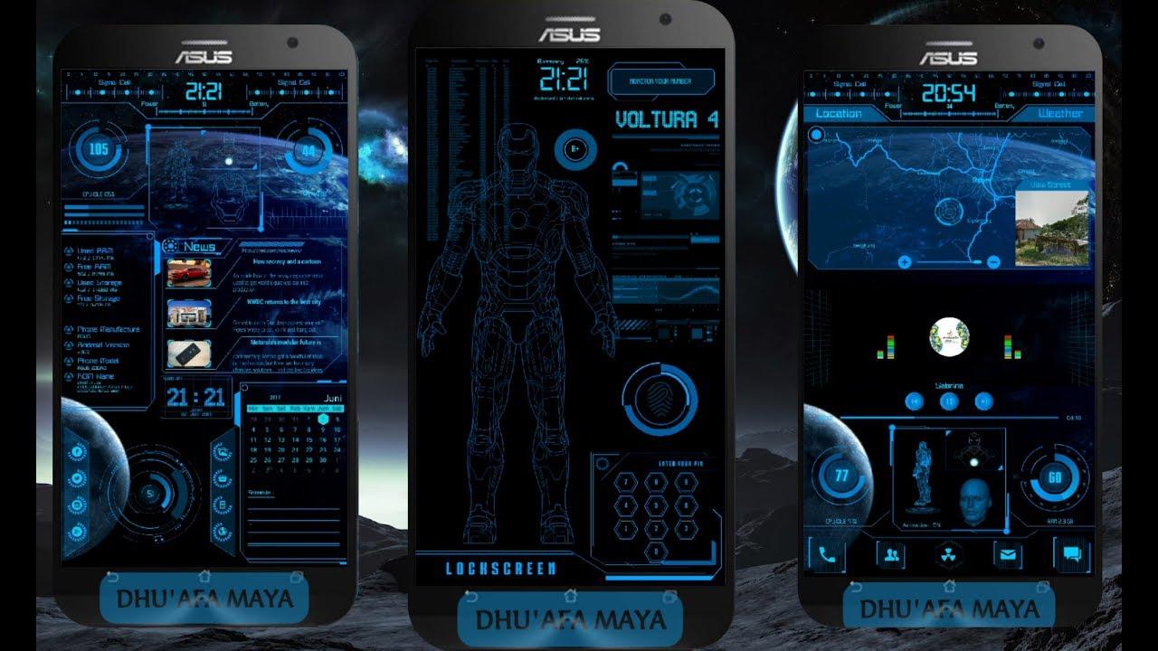 KLWP THEMES: `VOLTURA PRO v 4` by dhuafa maya by Android XT