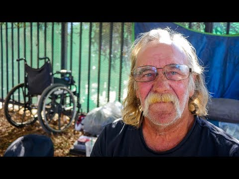 Mark Is a Disabled Homeless Veteran in the Westwood Neighborhood of Los Angeles