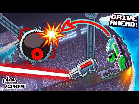 Drive Ahead Наказал опасного БОССА! игра про машинки на канале Play Games