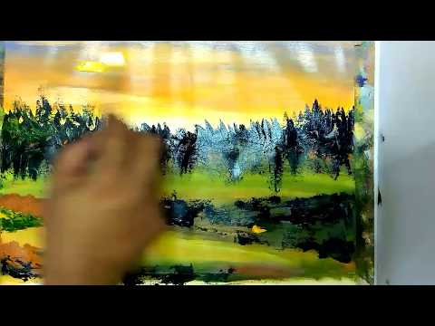 Art and Craft Ideas /Abstract/Brush and Palette knife /Acrylic Abstract Painting Tutorials/ #10