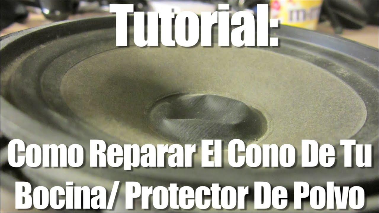 Tutorial como reparar el cono de tu bocina protector de - Como reparar una vitroceramica ...