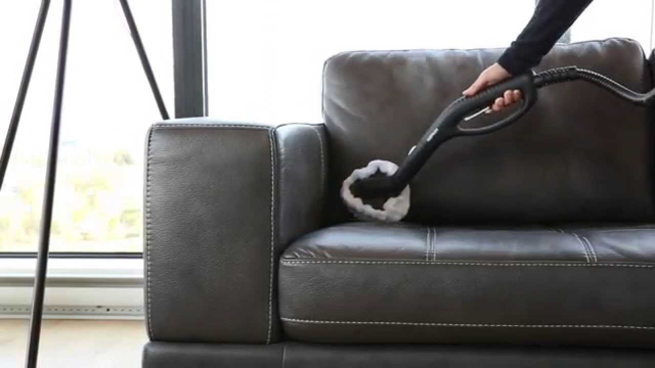 sofa cleaner modern recliner australia how to clean a leather with steam youtube